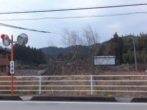 国道42号線から望むJR参宮線 松下駅