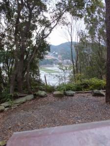 旅荘 海の蝶付近の小社からの風景