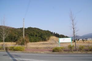 安養寺跡発掘調査現場付近