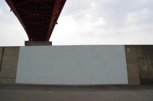 堤防壁画(伊勢市神社港)下書き状態