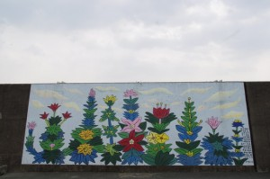 堤防壁画(伊勢市神社港)2008.2.10制作