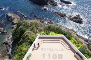 最上部からの風景(大王埼灯台)