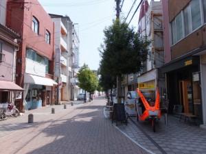 解体中のJOY CITY(伊勢市駅前)付近
