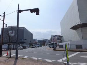 建設中のビル、解体中のJOY CITY(伊勢市駅前)