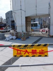 新しく建てられた鳥居(伊勢市駅前)