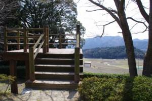 坂本農村公園の展望台(坂本棚田)