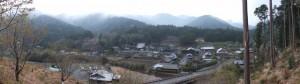 宮山の神社跡標柱付近からのパノラマ(伊勢市横輪町)