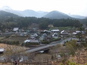 宮山の神社跡標柱付近からの眺望(伊勢市横輪町)