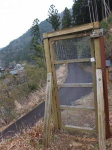 宮山への登り口(伊勢市横輪町)