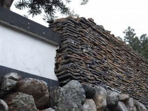 桂林寺の石垣、塀(伊勢市横輪町)
