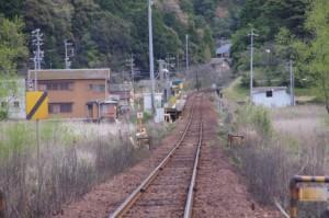 JR東海 圦先(ゆりさき)踏切から望む松下駅