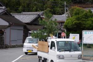 弓祭りの会場(伊勢市二見町松下)