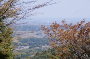 旧国束山参道、国束山(山コース)からの眺望