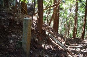 「弁天社一建立・・」石柱(旧国束寺跡付近)