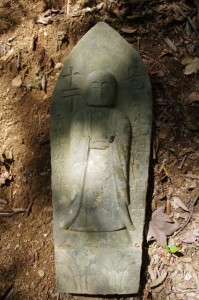 十一丁地蔵丁石(旧国束寺跡~國束寺)