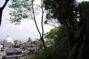 音無山園地の山道からの風景