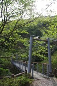 吊り橋(音無山園地)