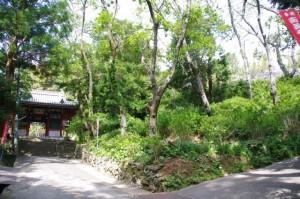 太江寺の山門付近(伊勢市二見町江)