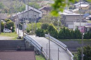 太江寺~増徳庵跡の途中から望む日の出橋