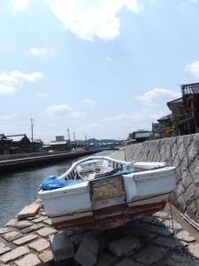 勢田川左岸(「川の駅 河崎」付近)
