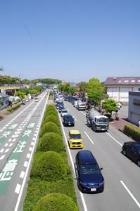 猿田彦神社付近の歩道橋より(国道23号線)