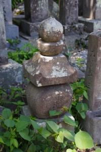 荒木田氏経の墓塔(荒木田墓地)