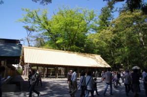 屋根が張り替えられた五丈殿(内宮)