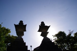 桜木町の大常夜燈(古市街道)