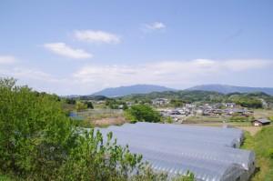 高松塚周辺地区公園休憩所(文武天皇陵付近)からの眺望