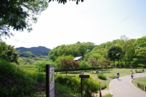 中尾山古墳への登り口付近