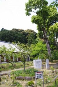往生院、聖倉殿への案内板(橘寺)