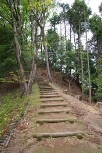 祝戸展望台への階段