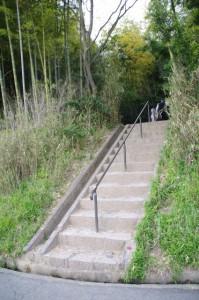 鬼の俎への階段