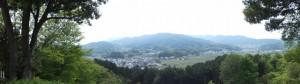頂上でのパノラマ写真(甘樫丘)