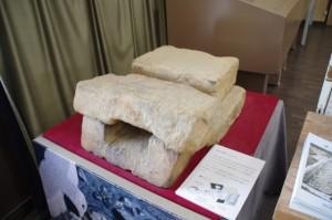 酒船石遺跡の取水口(明日香村埋蔵文化財展示室)