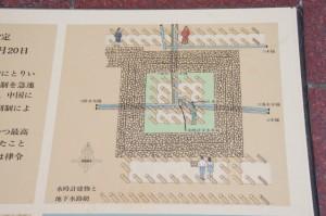 史跡 飛鳥水落遺跡の説明図