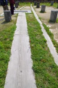 史跡 飛鳥水落遺跡の木樋跡