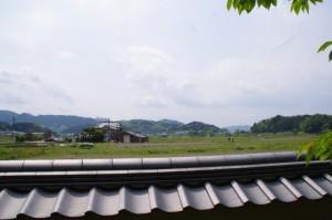 真神原の眺めの説明板からの眺め(飛鳥寺)