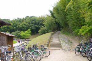 酒船石への階段(酒船石遺跡)