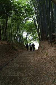 酒船石付近の階段(酒船石遺跡)