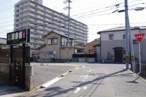 横断歩道(770)付近