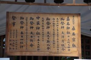 桑名神社、中臣神社の御祭神(春日神社)