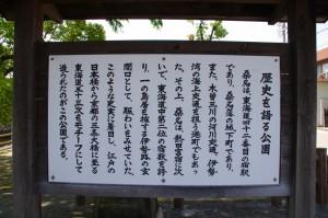 歴史を語る公園の説明板