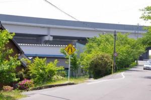 ベンチ(8736)付近から望む伊勢湾岸自動車道