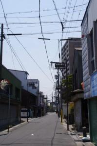 東海道の道標(365)の先、中町通り