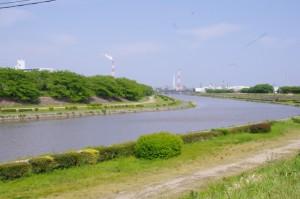 (5055)付近から海蔵川