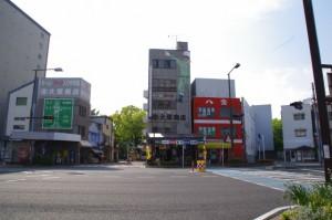 諏訪神社前交差点(国道1号線)