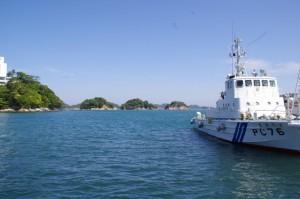 三ツ島と海上保安庁 PC76 まきぐも