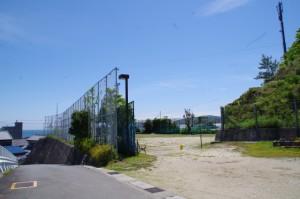旧小浜小学校のグラウンド