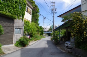 浜辺橋付近~主水山(右方向は鳥羽駅へ)